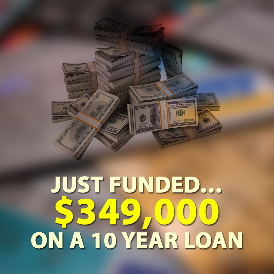 Just Funded $349000 on a 10 year loan 1080X1080